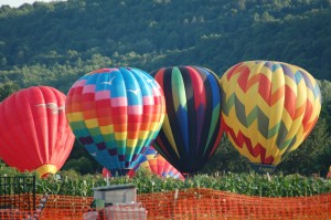 Hot air ballooning in the Pioneer Valley